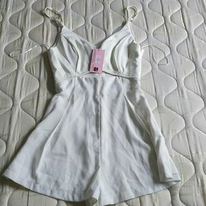 Pants - Cream Romper